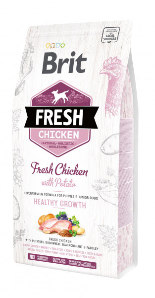 Brit Fresh Hund - Puppy & Junior - Chicken - Healthy Growth